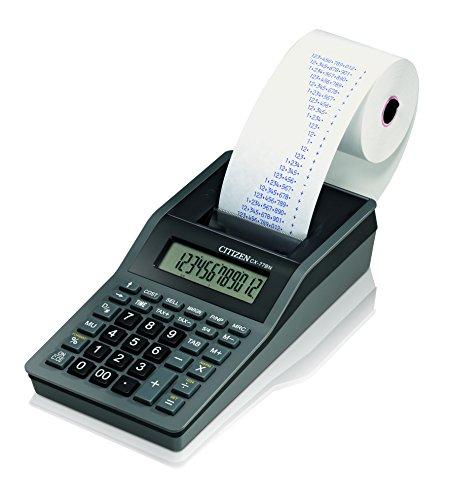 Citizen CX-77BIII - Calculadora (Escritorio, AC/Battey, Printing calculator, Negro, Térmico, Botones)