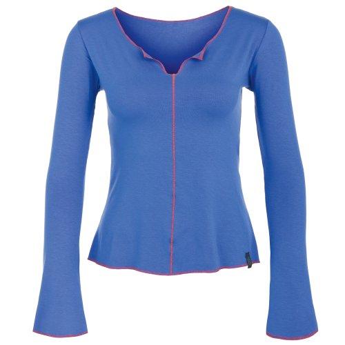 manches longues Yoga Chemise bleu, Devi à manches longues de chapeau et Berg Balance - Bleu, L