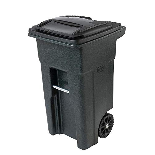 garbage can with lid attached - 4