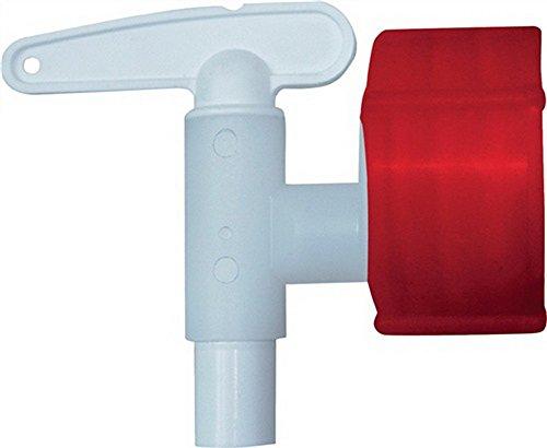 Auslaufhahn Kunststoff weiß 34 mm NW 15, Durchmesser 15mm, für 150/200l Rundbehälter u. Rundfässer