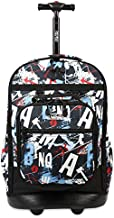 J WORLD NEW YORK Kids' Duo Rolling Backpack with Lunch Box Set, GRAFFITI, One size