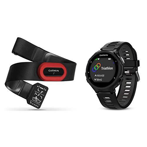 Garmin Forerrunner 735 XT Run Bundle - GPS-Multisportuhr mit HRM Run Brustgurt für Läufer und Triathleten, mit Laufeffizienzwerten, umfangreichen Trainingsfunktionen, Herzfrequenzmessung am Handgelenk