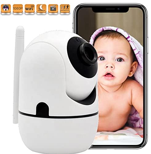 Cámara Vigilancia WiFi Interior | Cámara IP 1080P con Detección de Movimiento | Cámara de Seguridad con Visión Nocturna | Cámara Vigilancia de Bebé | con Audio Bidireccional Compatible iOS Android.