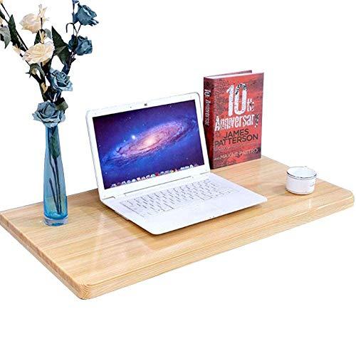 AI LI WEI levend kantoor/eenvoudige klaptafel inklapbare wandtafel massief houten bureau tuintafel plaatsbesparend, metalen houder, 3 maten (grootte: 80x40cm)
