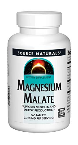 Source Naturals Magnesium Malate 1250 mg for Energy Production - 360 Tablets