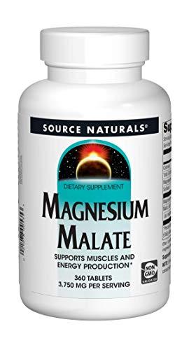 Source Naturals Magnesium Malate, 1250mg, 360 Veg. Tabletten