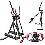 FFitness Air Walk Ellittica Cross Trainer Richiudibile con Monitor e Porta Smartphone (Unisex-Adulto)