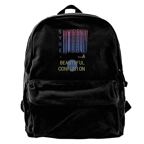 Yuanmeiju Canvas Backpack Syre Jaden Smith Rucksack Gym Hiking Laptop Shoulder Bag Daypack for Men Women