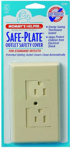 Mommys Helper Safe Plate Electrical Outlet Covers Standard, Almond