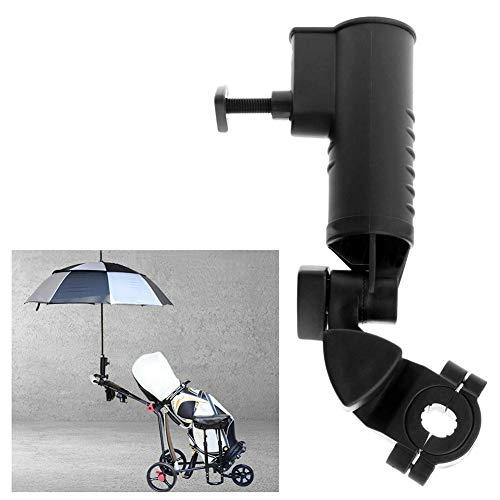 Golfschirmhalter, verstellbarer Golfwagen-Regenschirmhalter Befestigung Universal für Golfwagen, Kinderwagen, Fahrrad, Rollstuhl, Angeln, Strandstuhl (schwarz)