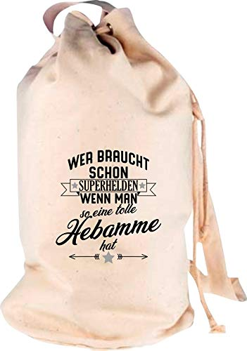 Shirtstown Sac à Dos Qui a Besoin de Super-héros si Vous Avez Un Super hébreu - Motif Logo - Sac de Voyage - Voyage - Vacances - Naissance de mer, Naturel, 30 cm x 53 cm x 30 cm