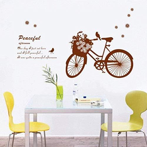 Wandaufkleber,Mode Wandbilder Fahrradkorb Schlafzimmer Wohnzimmer Dekoration Abnehmbare Wandaufkleber Größe 60 * 90cm