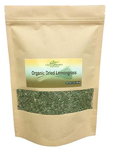 Organic premium grade dried lemon grass cut, harvested from a organic farm in Sri Lanka 2 oz/56g
