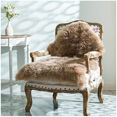 YYTLDT Soft Fluffy Chair Cover Faux Sheepskin Seat Cover Floor Mat Artificial Fur Rugs for Living product image