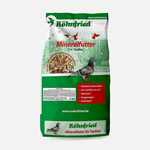 Röhnfried – Grit mit Anis Mineralfutter | Optimierte Mineralien für Tauben | Enthält Austernschalen, Muschelschalen, Quarz- und Rotsteinen (25 Kg)