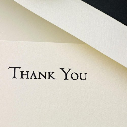 Crane & Co. Black Hand Engraved Thank You Cards (CT3302) Photo #2