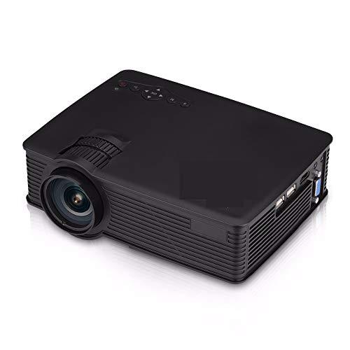 Mini-LED-Projektor, 800 x 480 Pixel, unterstützt 1080P, 1800 Lumen, HDMI/USB/SD/AV/3,5 mm, für Outdoor/Heimkino