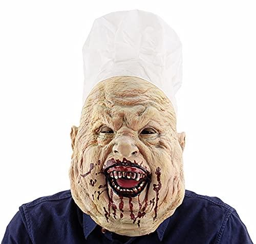 BDTOT Máscara de Terror de Alloween Máscara de Látex Aterradora, Máscara de Cabeza Completa de Látex,Halloween y Navidad Terror máscaras látex Decorativas