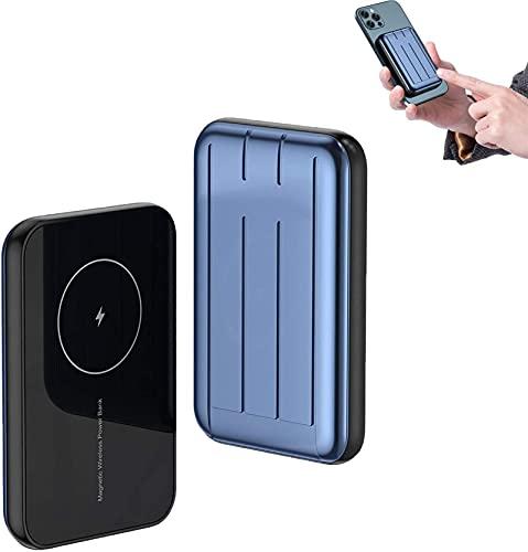 MAG-SAFE POWER BANK 15W 10000MAH PD QC QC Rápido Magnético AdSorbible Cargador rápido Compatible con iPhone 12/12 MINI / 12 PRO / 12 PRO Ima inalámbrico fino Carga de la batería auxiliar del tesoro