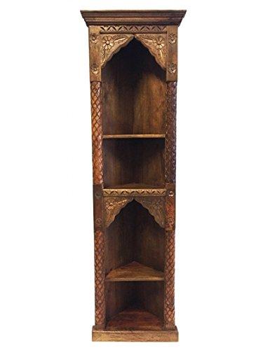 Marrakesch Orient & Mediterran Interior ® Indischer Eckregal Regal geschnitzt Wurud - 182cm -
