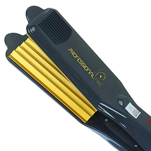 professional feel Neo Tress Pro Hair Styling Crimper Cum Hair Straightener for Girls for Crimping Hair Without Damage (Black)