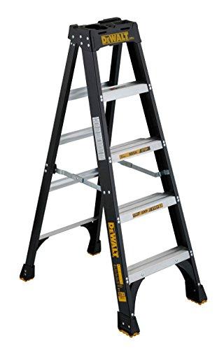 DeWalt 5-Feet Fiberglass Stepladder, 300-Pound Duty Rating, DXL3010-05,Yellow
