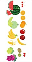 ポスター ウォールステッカー 長方形 シール式ステッカー 飾り 60×31cm Msize 壁 インテリア おしゃれ 剥がせる wall sticker poster 果物 バナナ メロン 013437