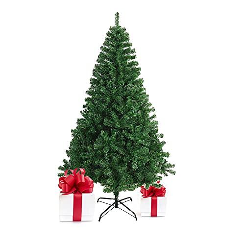 Bravo Home - Árbol de Navidad Artificial Verde Natural(60 cm – 240 cm), con Soporte metálico, Material PVC, fácil de Montar, Ideal para casa, Oficina, magas, hoteles (180 cm)