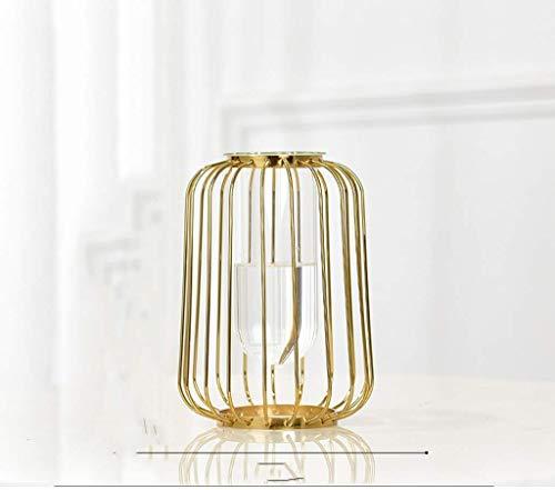 Vaas waterreservoir glazen vaas decoratieve lamp kunst woonkamer eettafel TV veranda kabinet Soft Gold afmetingen 30 * 16 * 16 cm woonaccessoires decoratie