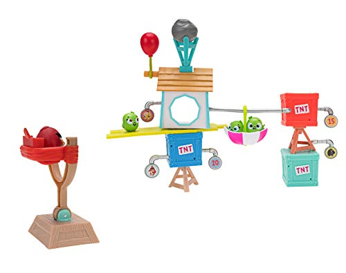 Angry Birds ANB0015 Pig City Build 'n Launch Spielset, mehrere Farben