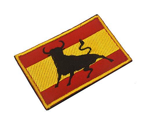 OYSTERBOY Bandera de España bordado brazalete tácticas militares de las Fuerzas Especiales de la moral de la placa de ropa de camuflaje mochila al aire libre de deportes parche (1pc)