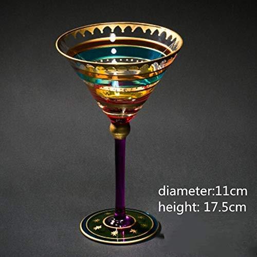 MYPNB Weingläser Cocktail Kreative Geschnitzte Zeichnung Kristall Cocktail Champagner Wodka Weingläser Cups Hochzeit Bar-Party Trinkgefäße Tool Free (Color : W6)