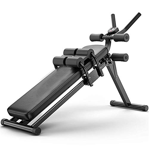FEILA Adjustable Folding Fitness Barbell Rack and Weight Bench Weight Bench with Upgraded Wider Backrest Seat InclineDecline Exercise Workout Bench for Home Gym, Strength Training Full Body Workout