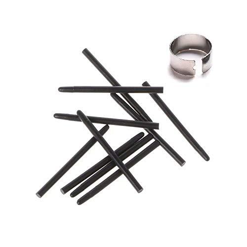 10 pcs Black Standard Pen Nibs Fits for WACOM CTL-471, CTL-671, CTL-472, CTL-672 w/Removal Ring