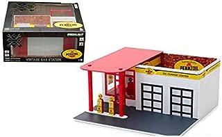 New DIECAST Toys CAR Greenlight 1:64 Mechanic's Corner - Vintage Gas Station - PENNZOIL 57052