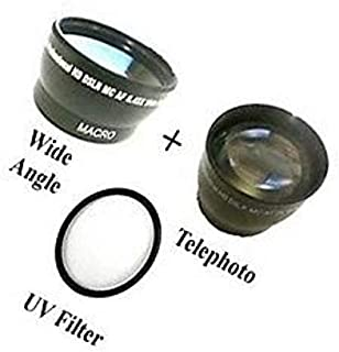 Tele Lens UV for Sony HDR-CX730 Sony HDR-CX730E Wide Lens Sony HDR-CX740 Sony HDR-CX740VE