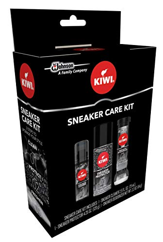 KIWI Sneaker Care Kit - Cleans Shoes, Repels Stains and Removes Odors....