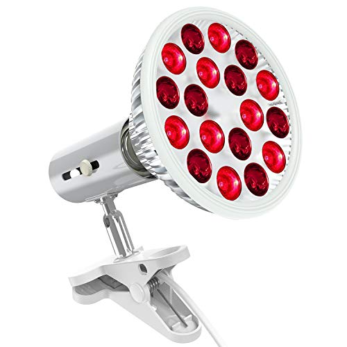 Bestqool Red Light Therapy Device, 660nm & 850nm 18 LEDs Near Infrared Led Light Therapy, High Irradiance Red Light Bulb for Skin Health and Pain Relief (Low Heat Bulb)
