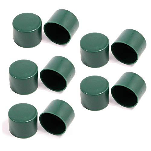 ESTEXO Montagezubehör für Zaunset Zubehör Maschendrahtzaun Set Pfostenkappen Strebenkappen Drahtspanner Spanndrahthalter (10er Set Pfostenkappen)