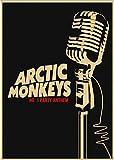 DUDUANLIAN Canvas Poster Arctic Monkeys Rockers Retro