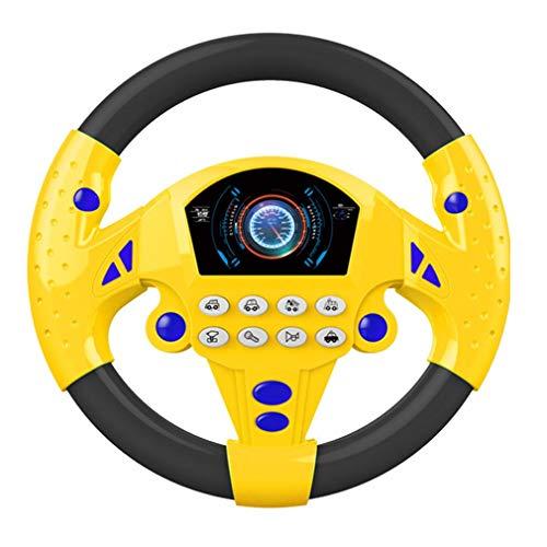 RoxTop Elektrisches Spielzeug Musikinstrumente für Kinder Baby-Lenkrad Musical Entwicklung Lernspielzeug...