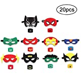 INTVN 20PCS Superheld Party Masken und Superheld Slap Armband für Kinder Baby - The Avengers &...
