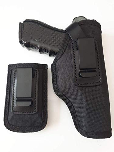 Cebeci Arms Universal IWB & SOB Concealed Carry Clip Pistol Holster for Medium & Large Frame Semi-Autos. Fits Sig Sauer, Colt 1911, Beretta 92F, Ruger, Glock 17 and M & P Shield
