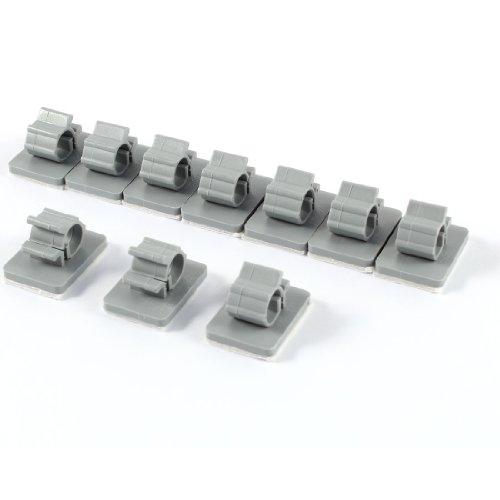 Klebesockel-Set für Kabelbinder,sourcing map 10 Stücke grau Kunststoff Selbstklebend Kabelhalter Kabelclip Kabelklammer