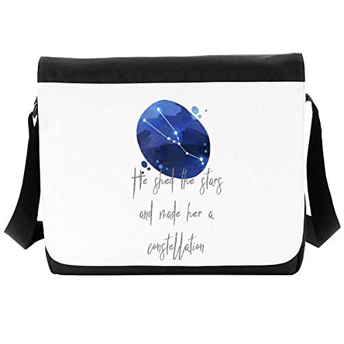 Zodiac Star Sign Taurus He Shed The Stars and Made Her A Constellation Shoulder Bag - Large