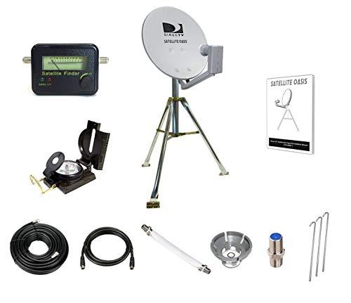 "Satellite Oasis Directv 18"" Satellite Dish Rv Tripod Kit"