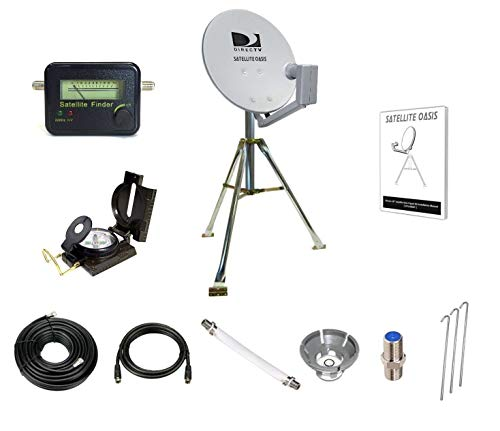 Satellite Oasis Directv 18' Satellite Dish Rv Tripod Kit