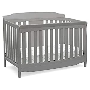 Delta Children Westminster 6-in-1 Convertible Baby Crib, Grey