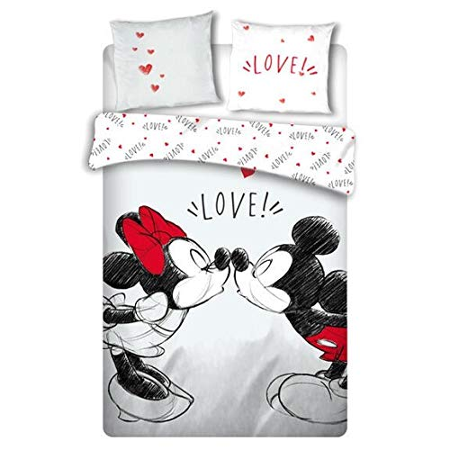 Funda nordica Love Mickey and Minnie Disney cama 135cm