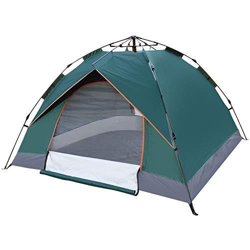 Tienda de campaña Familiar Light Pop Up 3-4 Personas Camping Acampada Festival, Tienda de Techo de Doble Capa Portátil Ultraligera, para Trekking, Camping, Playa, Aventura